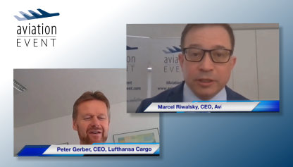 AVIATIONTV VIRTUALLY WITH CEO OF LUFTHANSA CARGO, PETER GERBER.